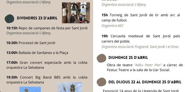 Exposició dels 14 anys de la Llegenda de Sant Jordi