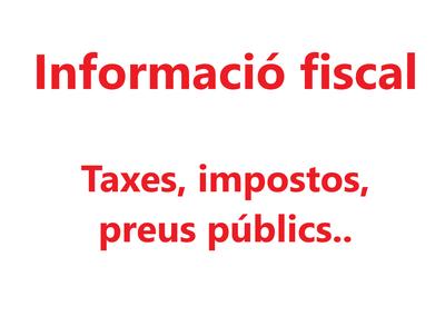Informació fiscal municipal