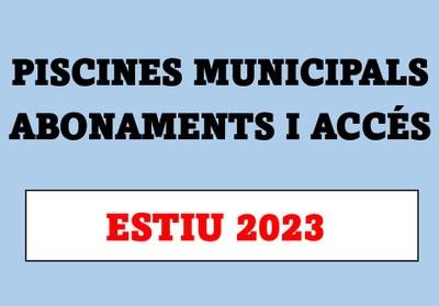 Piscines municipals: abonaments i accés