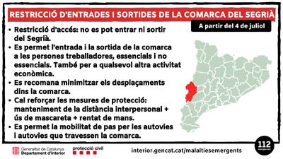 Declarat el confinament perimetral del Segrià