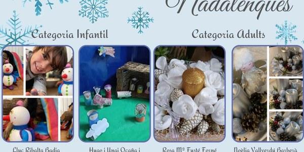 Entrega dels premis del concurs de manualitats nadalenques
