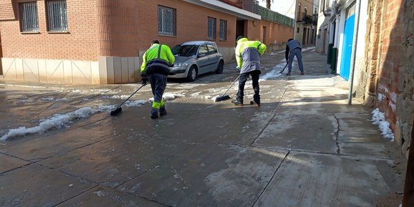 Neteja de la neu dels carrers i camins del terme