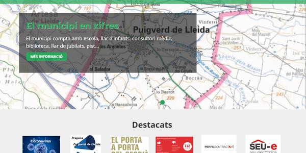 Nova web municipal per millorar la informació i els tràmits online