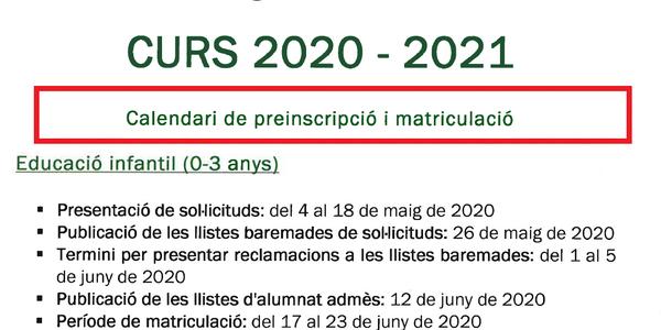 Preinscripció a Llar d'Infants de Puigverd de Lleida (nou accés)