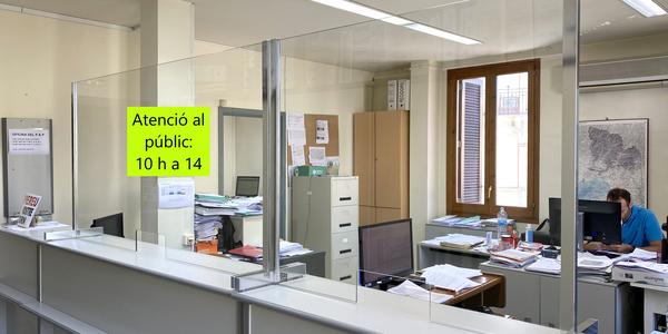 Reobertura dels horaris d'atenció al públic a l'Ajuntament