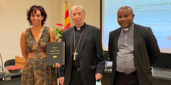Visita institucional del bisbe de Lleida a l'Ajuntament